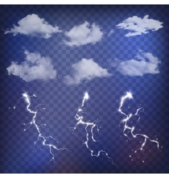 Sky creator with realistic clouds and vector