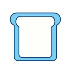 Slice of bread cartoon vector