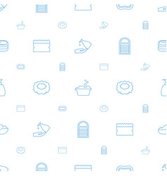 Soap icons pattern seamless white background vector