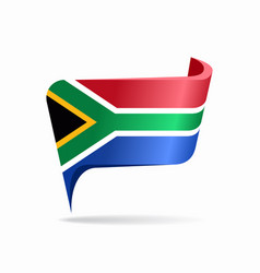 South african flag map pointer layout vector