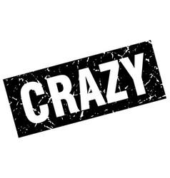 Square grunge black crazy stamp vector