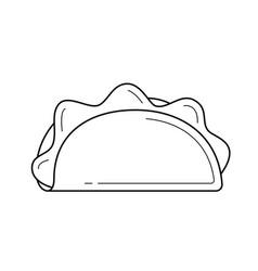 taco line icon vector image
