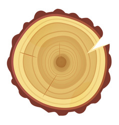 tree ring icon timber texture and industry vector image