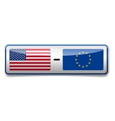 USA - EU sign vector image