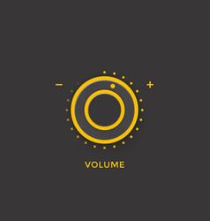 volume control knob regulator dark version vector image