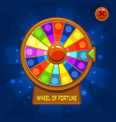 Wheel of fortune for ui game vector