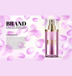 woman glamour pink rose water spray bottle vector image