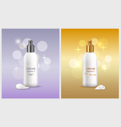 Woman skin care products vector