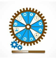 Work Gear vector image