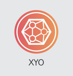 Xyo blockchain cryptocurrency xyo element vector