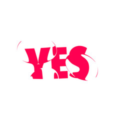 yes banner poster and sticker concept vector image