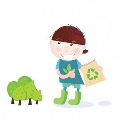 forest recycle icon vector image vector image