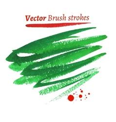Hand drawn watercolor brush strokes vector image
