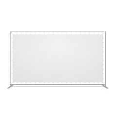white blank advertising press wall with fabric vector image vector image