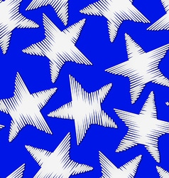 White star embroidery stitching seamless pattern vector image vector image
