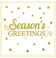 Gold seasons greetings card design vector