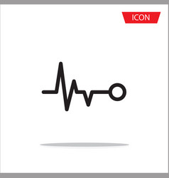 Heart beat icon on white background vector