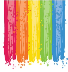 Rainbow paint strokes background vector image