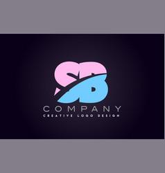 sb alphabet letter join joined letter logo design vector image