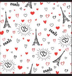travel france seamless pattern paris city vector image