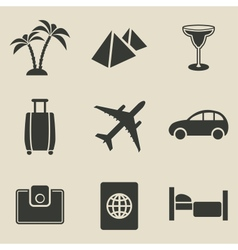 Travel icon set - vector image vector image