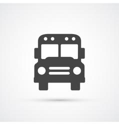 Trendy flat Bus icon vector image