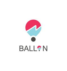 ballon logo vector image