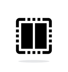 Dual Core CPU simple icon on white background vector image vector image