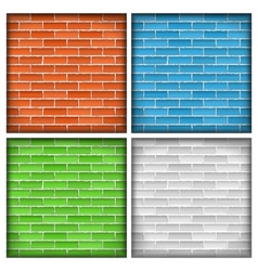 Old Brick Walls vector image vector image
