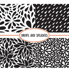 Seamless stylish pattern with raindrops vector image