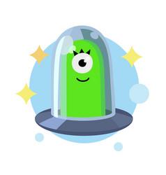 ufo alien cartoon vector image