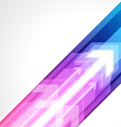 abstract arrows background vector image vector image
