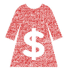 dress sale fabric textured icon vector image