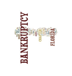 Florida bankruptcy text background word cloud vector
