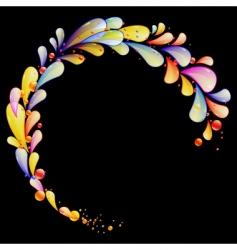 folder rainbow vector image