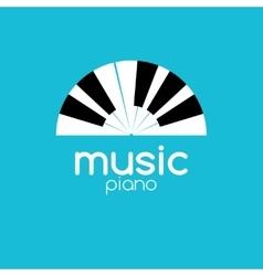 minimalistic music piano logo Music trendy vector image vector image