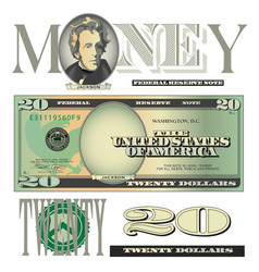 money 20 Dollars vector image