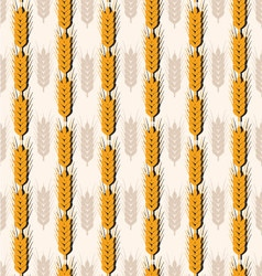 pattern Spikes of wheat vector image