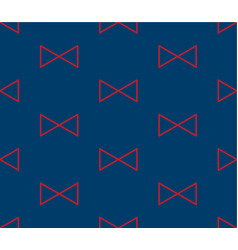 Red triangle ribbon on indigo blue background vector