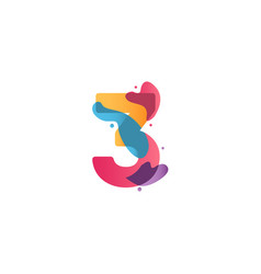 3 years anniversary celebration flux template vector