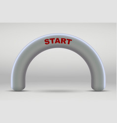 3d inflatable start line arch vector image