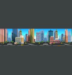 A city landscape with buildings vector