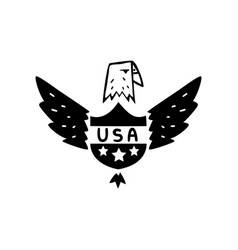 american eagle usa symbol retro design element vector image