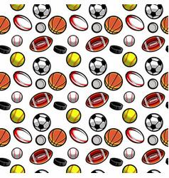 ball seamless pattern vector image