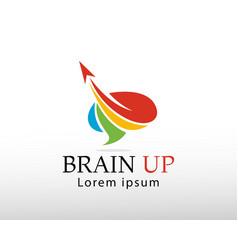 Brain up logo creative brain logo brain up logo vector