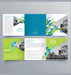 brochure design 621 vector image