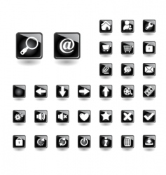 buttons for websites vector image