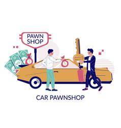 car pawnshop flat style design vector image