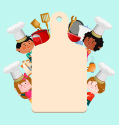 chefs kids cooking classes template vector image
