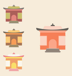 Chinese holiday home tample collection vector
